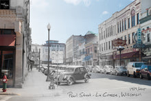 Then & Now Art®: Pearl Street - La Crosse, WI [1939/2015]