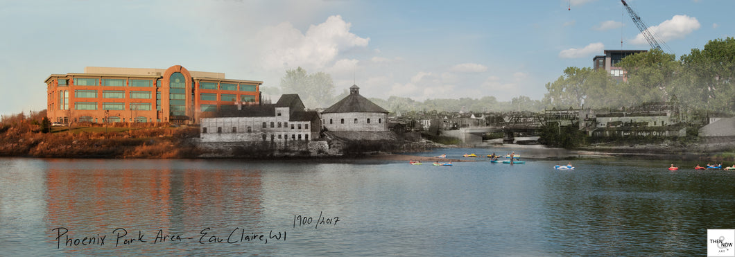 Then & Now Art®: Phoenix Park Area - Eau Claire, WI [1900/2017]