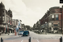 Then & Now Art®: Public Square - Stevens Point, WI [1940s/2014]