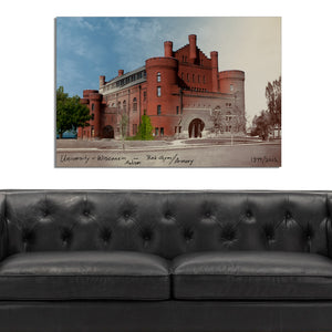 Then & Now Art®: Red Gym/Armory - Madison, WI [1899/2013]