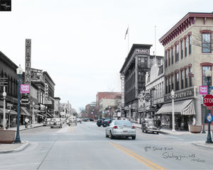 Then & Now Art®: 8th Street #1 - Sheboygan, WI [1950/2016]