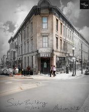 Then & Now Art®: Suhr Building - Madison, WI [1931/2012]