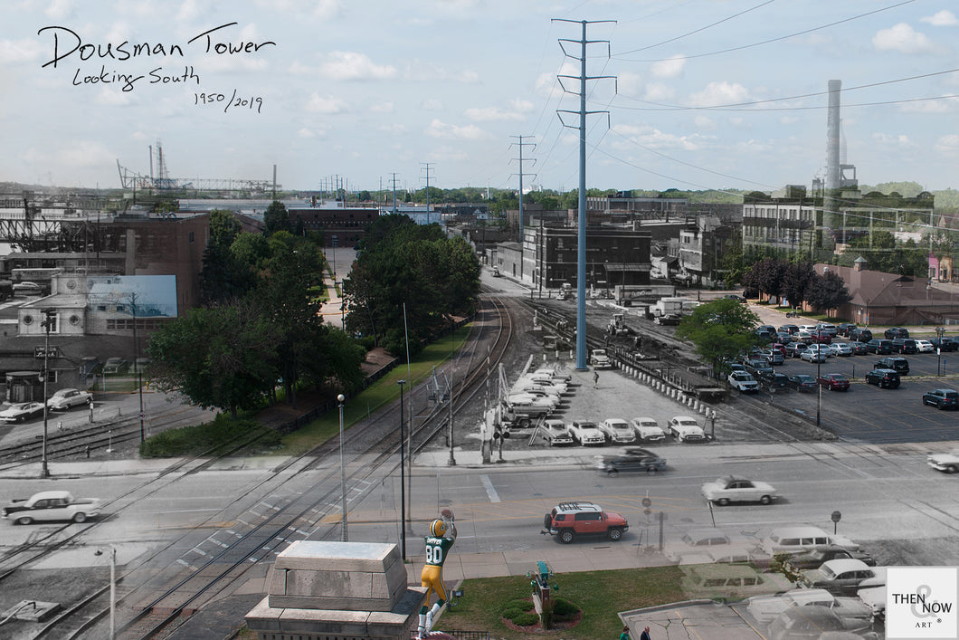 Then & Now Art®: Dousman Tower - Green Bay, WI [1950/2019]