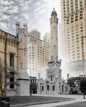 Then & Now Art®: Water Tower - Chicago, IL [1950's/2016]
