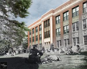 Then & Now Art®: Wausau High School - Wausau, WI [1954/2015]