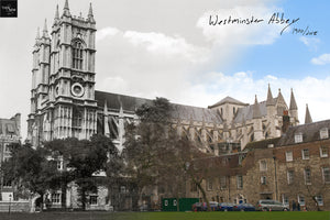 Then & Now Art®: Westminster Abbey - London, England [1900/2018]