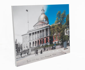Then & Now Art®: Boston State House - Boston, MA [1900/2017]