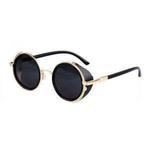 Hot Cool Vintage Style Unisex Round Frame Sunglasses
