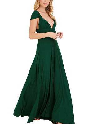 CHOiES record your inspired fashion Choies Women's Infinity Gown Dress Multi-Way Strap Wrap Convertible Maxi Dress