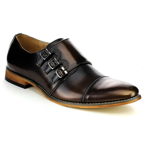 Men's Shoes Monk Straps Wingtip Dress Shoes Loafers, Half Size Bigger