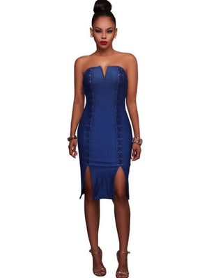 Backless Strappy Bandage Women's Party Dress