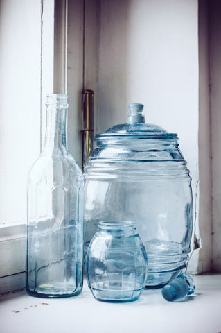 Soft Blue Bottles