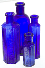 Cobalt Blue Poison Bottles