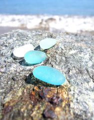 Aqua and Turquoise Sea Glass