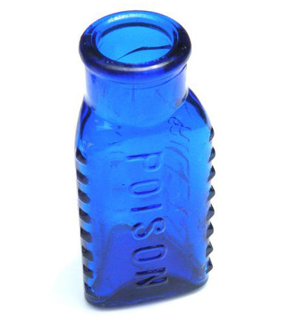 Cobalt Blue Poison Bottle