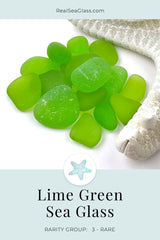 Lime Green Sea Glass Rarity Color Card