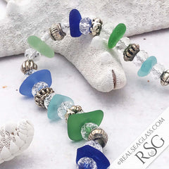 Multi Colored Sea Glass Bracelet
