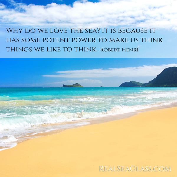 Real Sea Glass Ocean Quote 17