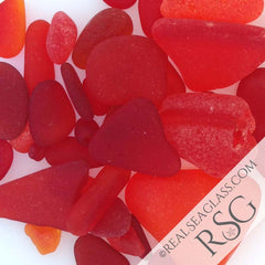 Real Red Sea Glass