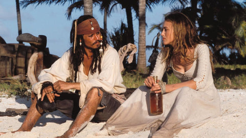 Captain Jack Sparrow with Rum Bottle