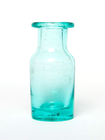 Small Aqua Glass Bottle
