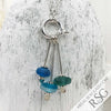 Turquoise, Teal & English Multi Sea Glass Sea Spray Sterling Silver Necklace