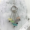 Pastel Rainbow Sea Glass Sea Spray Sterling Silver Necklace