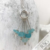 Aqua Seaburst Sea Glass Sea Spray Sterling Silver Necklace