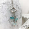 Aqua Mist Sea Glass Sea Spray Sterling Silver Necklace