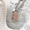 Small Blush Pink Sea Glass Pendant with a Starfish Charm