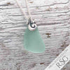 Seafoam Sea Glass Ocean Waves Necklace