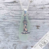 Long Tapered Seafoam Sea Glass Necklace with Lighthouse Charm
