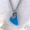 Perfect Turquoise Triangle Sea Glass Pendant