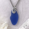 Perfect Cornflower Blue Taper Sea Glass Pendant