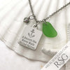 "Kelly Green ""A Smooth Sea Never Made Skilled Sailors"" Necklace"