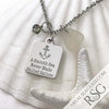 "Clear White ""A Smooth Sea Never Made Skilled Sailors"" Necklace"
