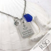 "Cobalt Blue ""A Smooth Sea Never Made Skilled Sailors"" Necklace"