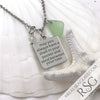 "Seafoam ""May You Always Have a Shell in Your Hand and Sand Between Your Toes"" Necklace"
