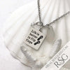 "Clear ""Life is Better in Flip Flops"" Necklace"
