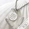 "Clear ""A Walk on the Beach is Good for the Soul"" Necklace"