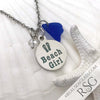 "Cobalt Blue ""Beach Girl"" Necklace"