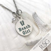 "Clear ""Beach Girl"" Necklace"