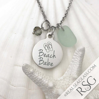 "Seafoam ""Beach Babe"" Necklace"