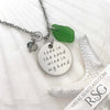 "Kelly Green ""Toes in the Sand Wine in My Hand"" Necklace 