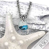 Turquoise Lightening Multi Sea Glass Necklace on Sterling Bail