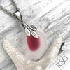 Large Pink Fisheye English Multi Sea Glass Necklace
