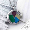 Bold Brights Sea Glass Locket Necklace