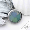 Soft Sea Shades Sea Glass Locket Necklace