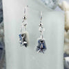 Blue & White Sea Shard Earrings with Sterling Silver Star Fish Charms