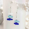 Tropical Twist Blue & Aqua Sea Glass Sea Stack Earrings